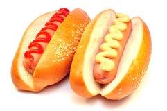 Hotdog mit zwei Klassikern Lizenzfreies Stockbild