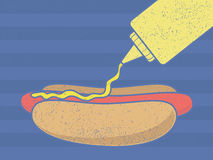 Hotdog Mustard Royalty Free Stock Photography