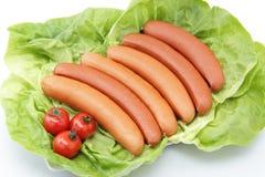 Hotdog na biały tle Zdjęcie Stock