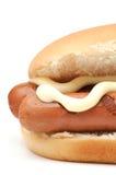 Hotdog-Nahaufnahme lizenzfreies stockbild