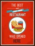 Hotdog poster Stock Photography