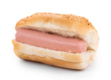 Hotdog with sausage roll. Stock Photography