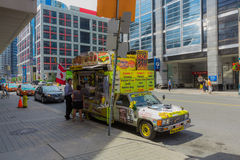 Hotdog seller in Toronto Stock Images