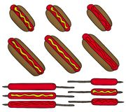 Hotdog set Stock Photo