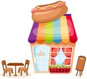 Hotdog Shop Royalty Free Stock Images