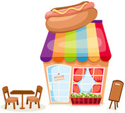 Hotdog shop Royalty Free Stock Images