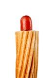 Hotdog som isoleras på vit bakgrund Royaltyfri Foto
