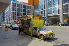 Hotdog sprzedawca w Toronto Obrazy Stock