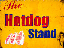 Hotdog stand sign Stock Photos