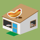Hotdog stand vector Stock Images