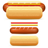Hotdog stylized Stock Photo