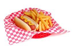 Hotdog und Fischrogen Stockfotos