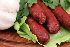 Hotdog und Gemüse Stockbilder