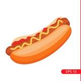 Hotdog vectorillustratie Stock Fotografie