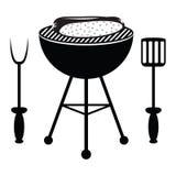 Hotdogbraadstuk op de barbecuegrill Royalty-vrije Stock Afbeelding