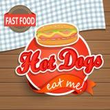 Hotdogconcept Stock Afbeeldingen