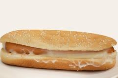 Hotdoghamburger in fastfood opslag stock foto