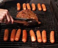hotdogi stek Obraz Royalty Free