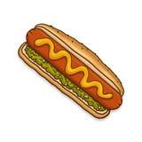 Hotdogillustratie Royalty-vrije Stock Fotografie