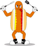 Hotdogmaskot royaltyfri foto