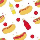 Hotdogpatroon Stock Foto's