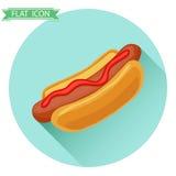 Hotdogpictogram Stock Foto's