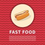 Hotdogplakat Stockfotografie