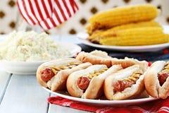 Hotdogs Arkivbild
