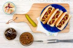Hotdogs do verão Imagem de Stock Royalty Free