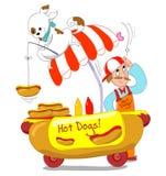 Hotdogs! Geïsoleerdr Royalty-vrije Stock Fotografie