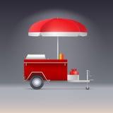 Hotdogspeicher Lizenzfreie Stockfotos