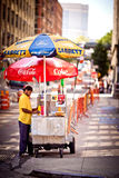 Hotdogstandplatz in New York Stockbilder