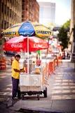 Hotdogstandplatz in New York Stockbilder