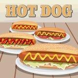 Hotdogtag Lizenzfreie Abbildung
