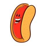 Hotdogteckenmaskot Royaltyfria Foton