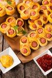 Hotdogtijd Royalty-vrije Stock Afbeeldingen
