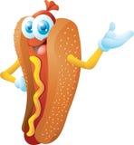 Hotdogzeichentrickfilm-figur Lizenzfreie Stockfotos