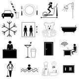 Hote y símbolos del viaje Foto de archivo libre de regalías