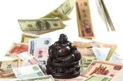 Hotei Buddha attracts monetary wealth Royalty Free Stock Images