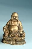 Hotei che ride la statua dell'ottone del Buddha Immagini Stock