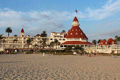 Hotel台尔科罗纳多,加利福尼亚 免版税库存图片