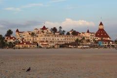 Hotel台尔科罗纳多,加利福尼亚 免版税图库摄影