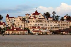 Hotel台尔科罗纳多,加利福尼亚 免版税库存照片