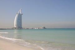 Hotel árabe del Al de Burj en Dubai fotos de archivo