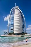 Hotel árabe do Al de Burj em Dubai Fotos de Stock Royalty Free