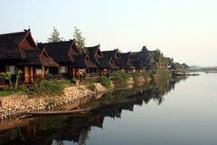 Hotel 2. Fantastic hotel in lake inle myanmar Stock Photo
