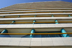 Hotel. A side of a hotel with many balconies royalty free stock image