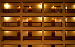 Hotel. View of hotel rooms and corridors Stock Photography