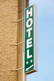 Hotel. Sign in a strret Royalty Free Stock Photography