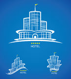 Hotel. Vector illustration of hotel background stock illustration